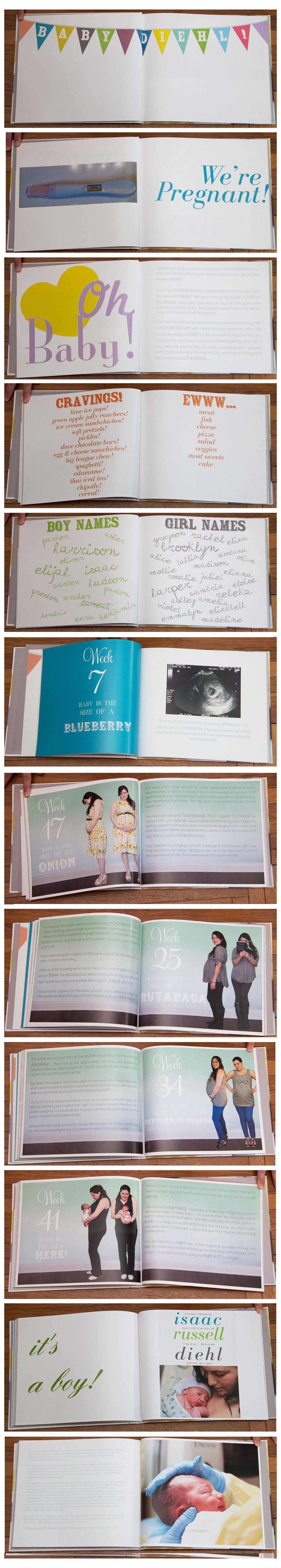 Photo of DIY Babybuch mit Mutterschaftsbildern und wöchentlichen Bauchaufnahmen …