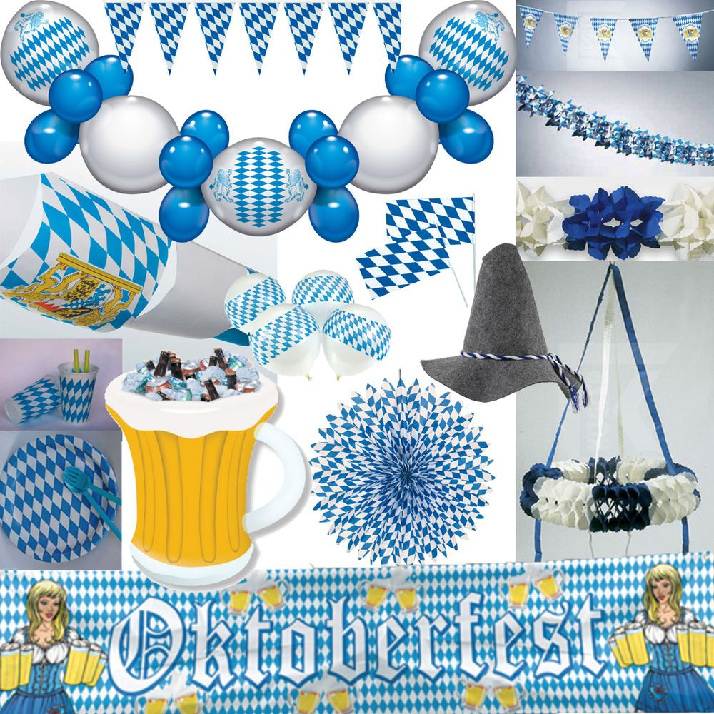 details zu oktoberfest dekoration 20 luftballons 25 cm bayern weiss blau party deko neu. Black Bedroom Furniture Sets. Home Design Ideas
