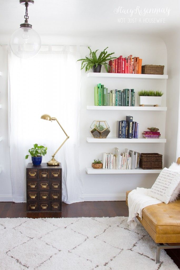 Living Room Shelf Ideas: Floating Shelves Living Room