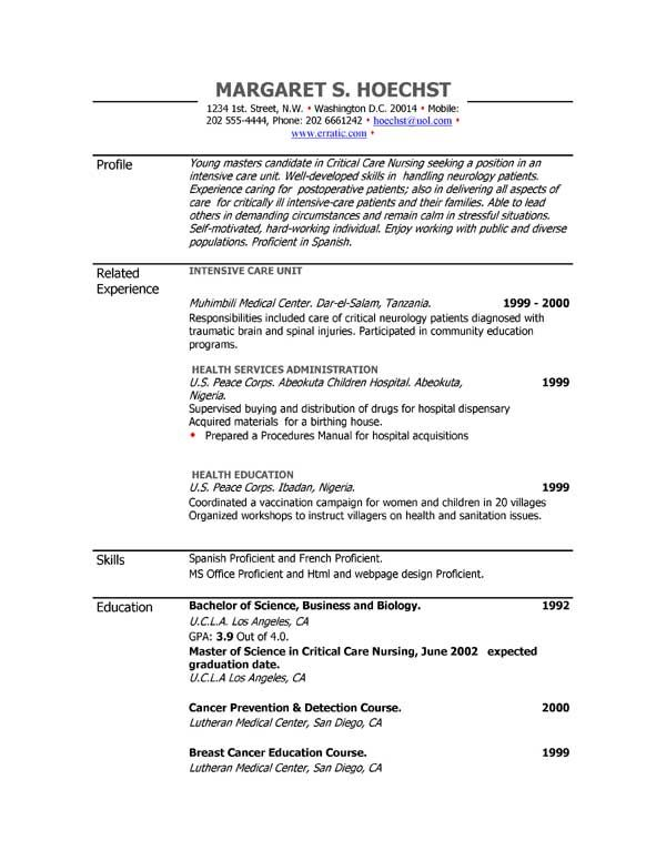 Acting Resume Sample Free -   wwwresumecareerinfo/acting - sample resume food bank