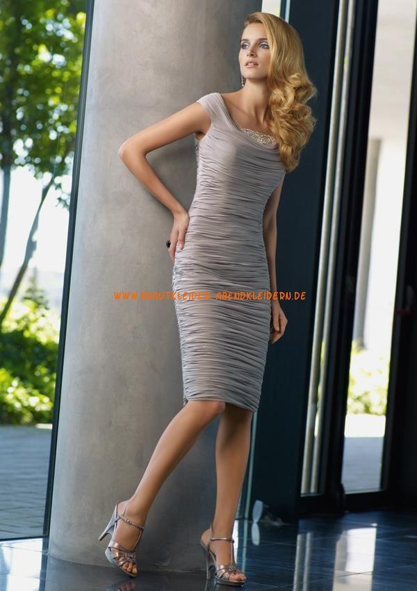 Billige Abendkleider kurz aus Taft im Kolumnestil online kaufen 2013 ...