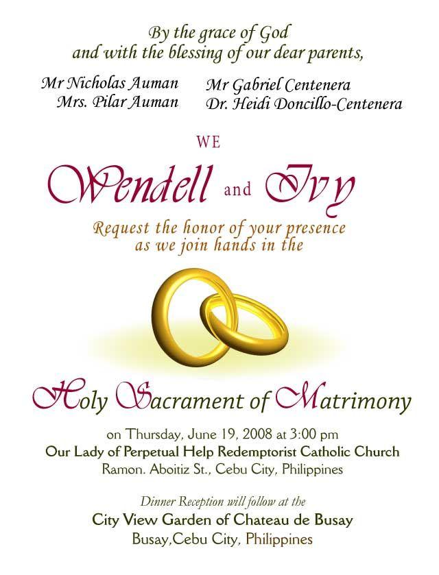 Wedding Invitations Wording Samples Invitation