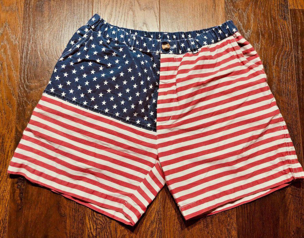 Vintage Chubbies Classic American Flag Shorts Men S Medium The Mericas Chubbies Chinoskhakis Chubbies Shorts American Flag Shorts American Flag Shorts Mens
