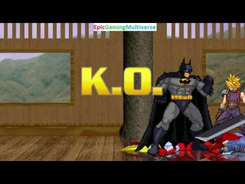 Batman And Cloud Strife VS Chucky The Killer Doll Omega Red In A MUGEN Match