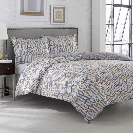 bdbc60518e32 Adrienne Vittadini Argent 3 Piece Comforter Set | Bedroom ...