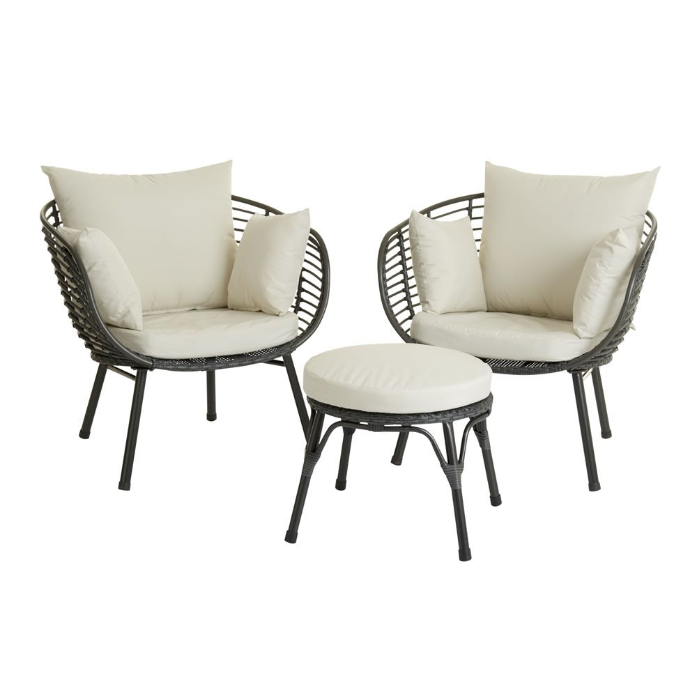 Rattan Egg Chair Set Wilko Garden Egg Lounge Set Rattan Effect Garden Rattan Garden