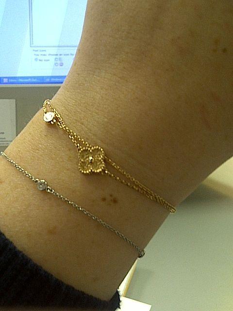 Van Cleef Amp Arpels Alhambra Sweet Bracelet With Two