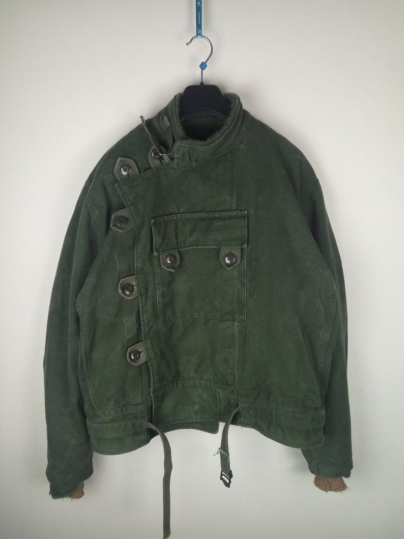 Vintage 60s Swedish Army Military Motorcycle Biker Jacket