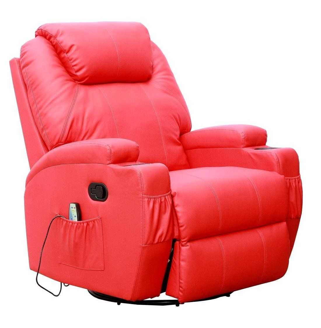 Remarkable Cinemo 9 In 1 Leather Recliner Chair Rocking Adjustable Evergreenethics Interior Chair Design Evergreenethicsorg