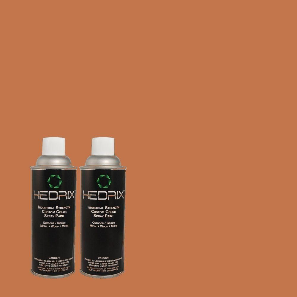 Hedrix 11 Oz Match Of 2b20 6 Rich Maple Gloss Custom Spray Paint 2 Pack Color Match Of 2b20 6 Rich Maple Available Color Spray Metallic Spray Paint Spray