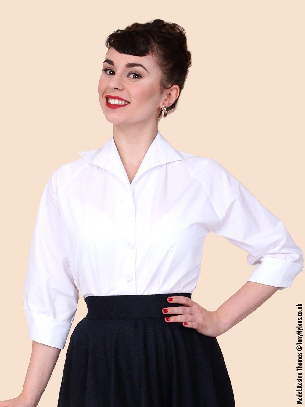 6539892b0 50s-1950s-Vivien-of-Holloway-Best-Vintage-Reproduction-Raglan-Blouse ...