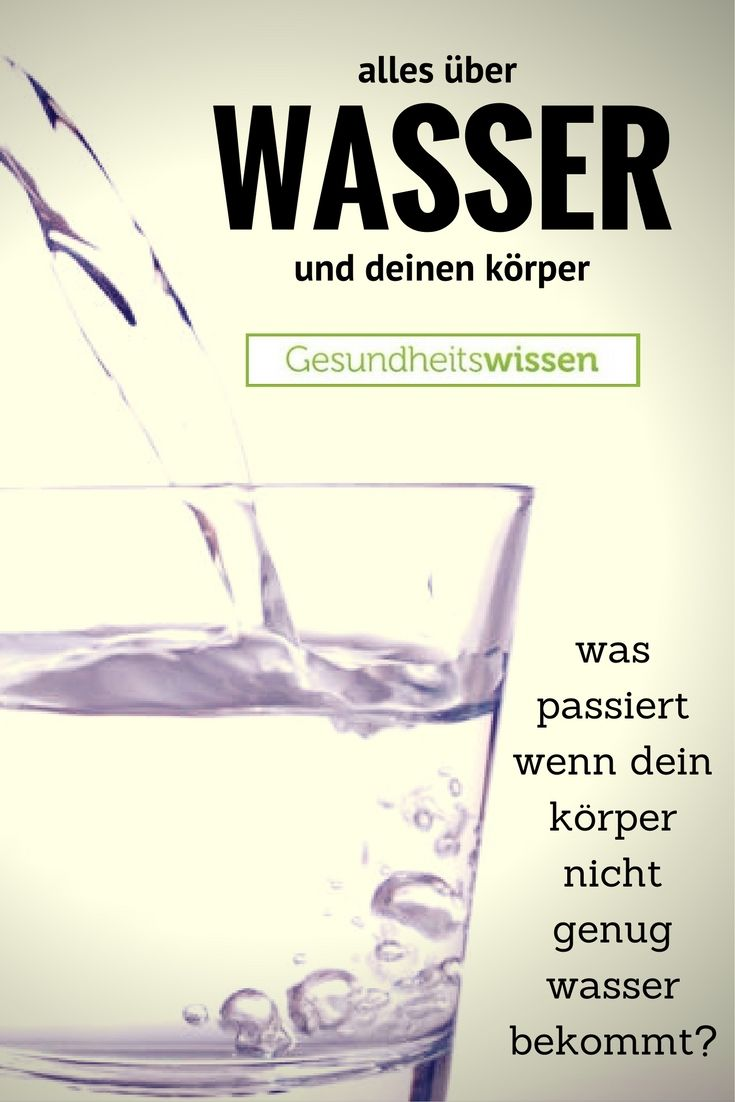 Wasser ist der Hauptbestandteil dessen, woraus wir bestehen. Das ...