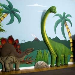Exceptional 3D Dinosaur Wall Art Decor  Would Love To Have For My David!