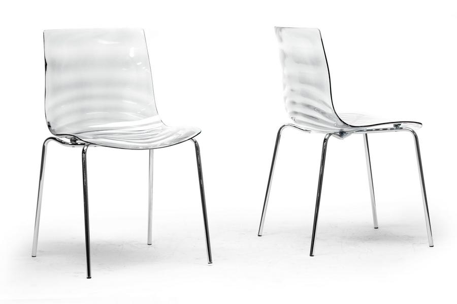 Baxton Studio Marisse Clear Plastic Modern Dining Chair Modern