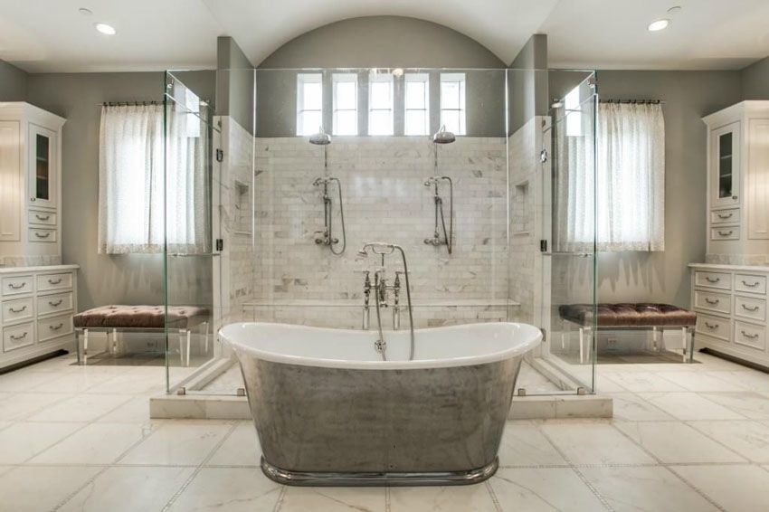 Beautiful Master Bathroom Ideas: 58 Luxury Walk In Showers (Design Ideas)