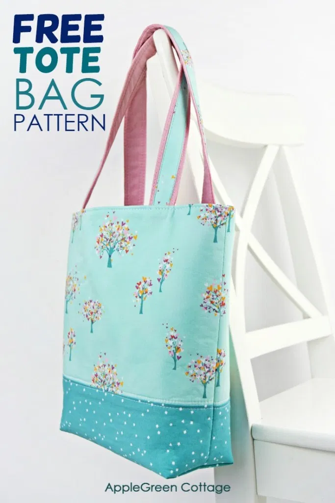 Photo of Tote Bag Pattern – Free Tote Pattern In 2 Sizes – AppleGreen Cottage