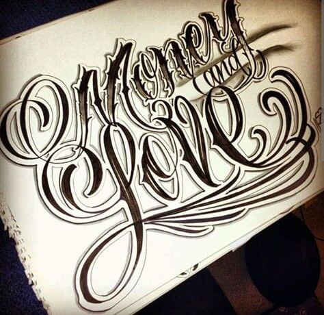 Chicano Lettering Tattoo Lettering Fonts Chicano Lettering