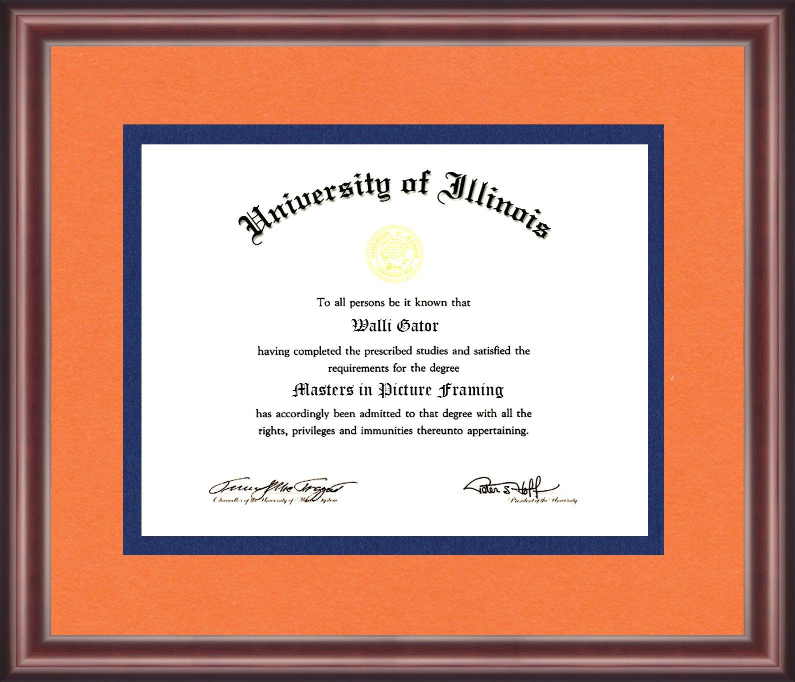 University Of Illinois Diploma Frame Diploma Frame University