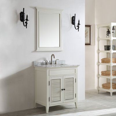 Beachcrest Home Fenwick 30 Single Vanity Set With Mirror Base Finish Antique White