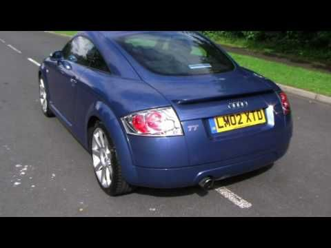 02 02 Audi TT Coupe Denim Blue Metallic, Black Leather With Grey Alcantara Inserts Barrie Crampton's You Tube Channel http://www.youtube.com/user/barriecrampton?feature=mhee