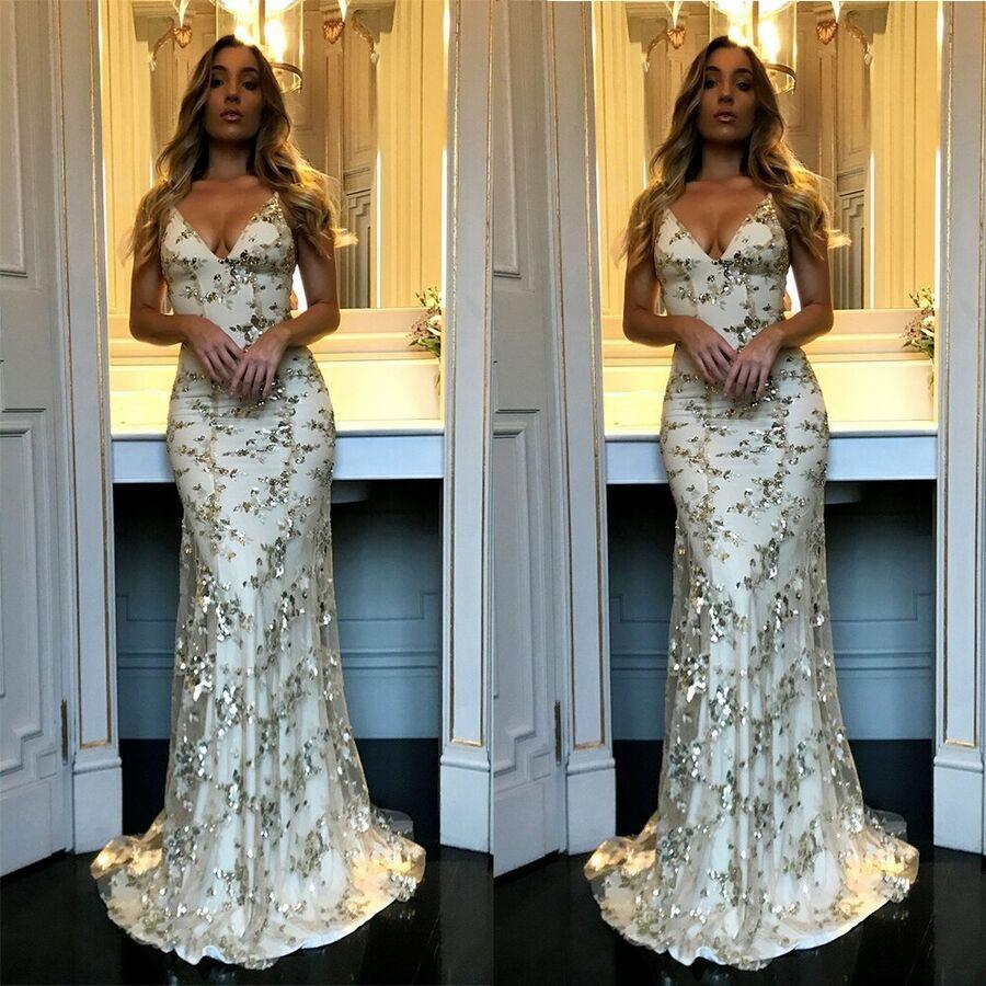 Women Wedding Cocktail Formal Bridesmaid Evening Midi Dress LongSleeve Prom Gown