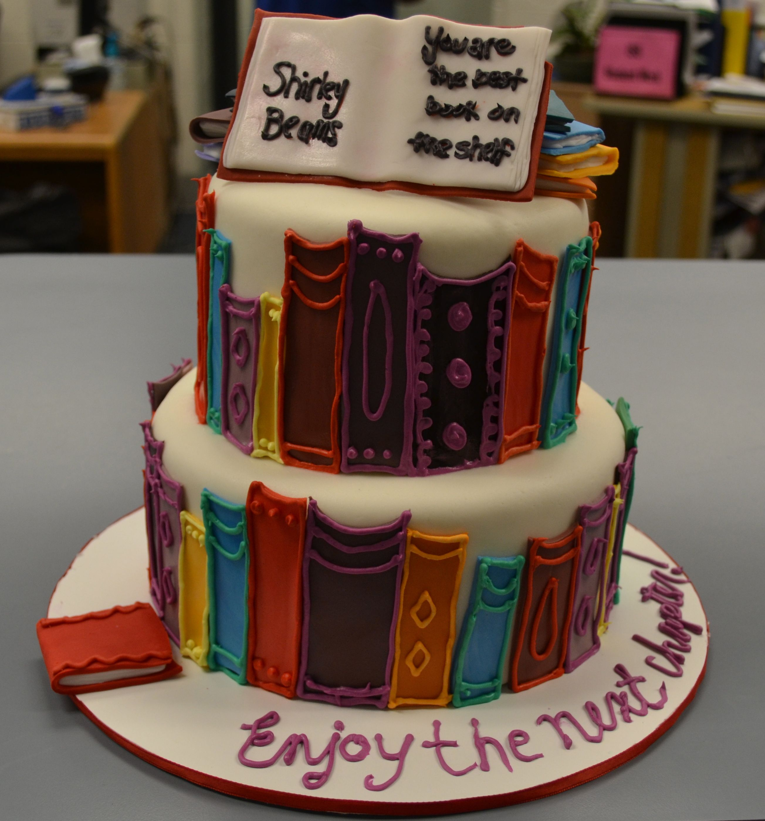 Librarian Retirement Book Cake