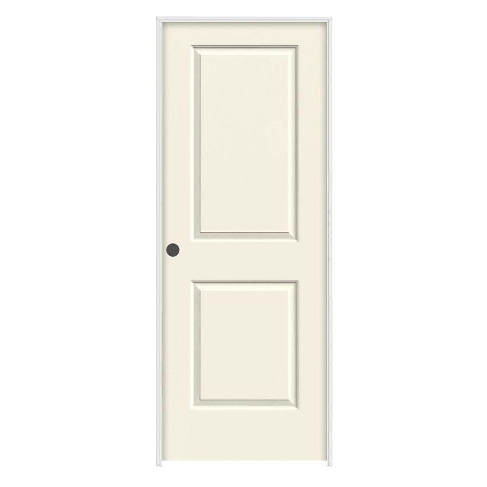Molded smooth panel square french vanilla white hollow core composite single prehung interior door also jeld wen in  rh za pinterest