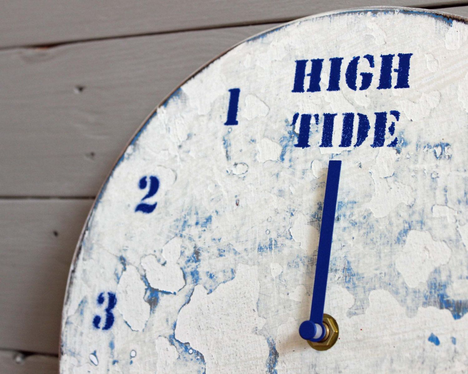 Driftwood tide clock white and bluewooden wall clockshandmade driftwood tide clock white and bluewooden wall clockshandmade clocksgifts for amipublicfo Image collections
