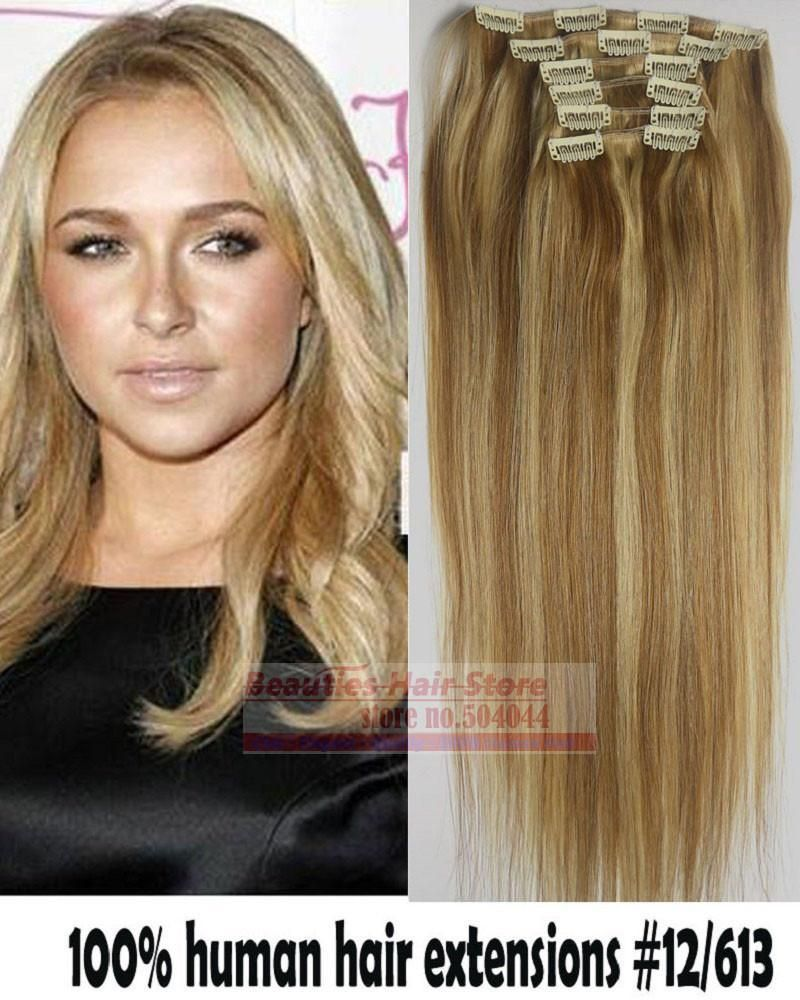 6pcs Brazilian Remy Clips Inon Human Hair Extensions Clip In Hair