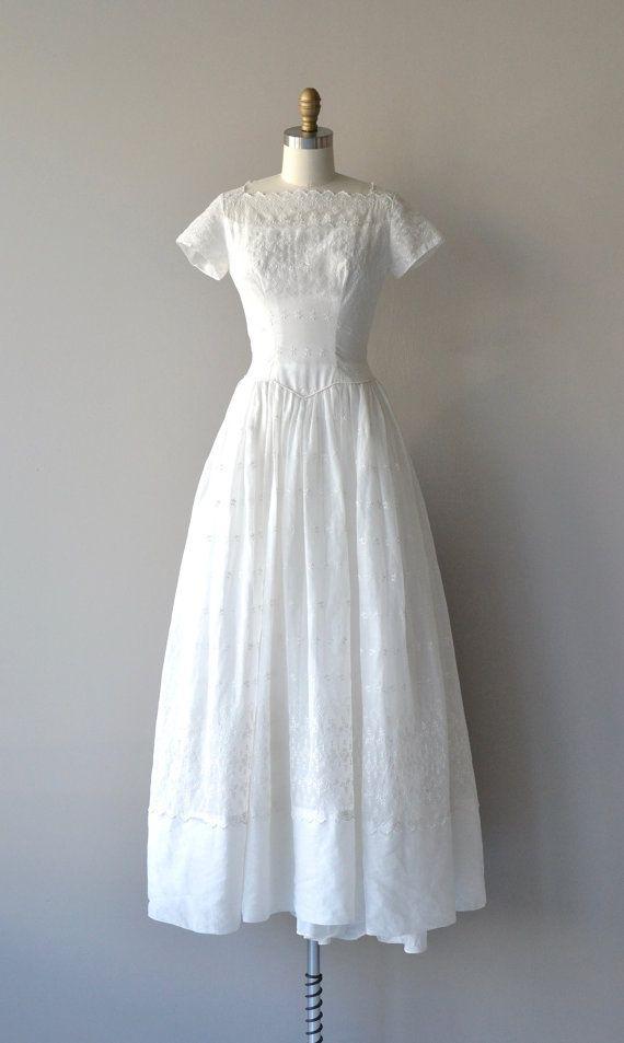 Bethanna Brautkleid Jahrgang 1940er Jahren von DearGolden auf Etsy ...