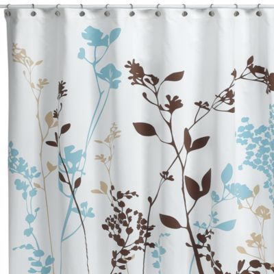 Blue And Brown Shower Curtain Fabric Blue And Brown Curtains