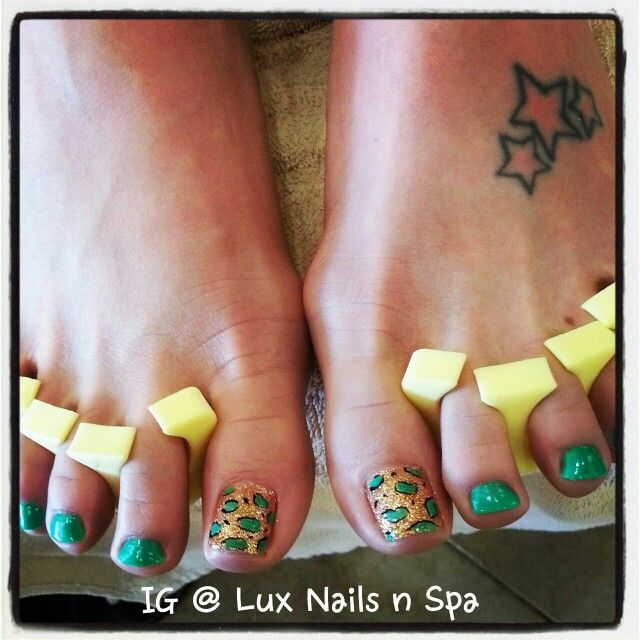 Done by Ivy - cheetah | Nails art @ Lux Nails and Spa | Pinterest ...