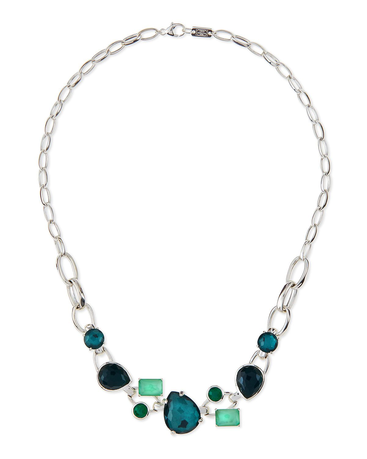 Ippolita 18k Gold Rock Candy Multi-Stone Necklace in Fall Rainbow, 18L