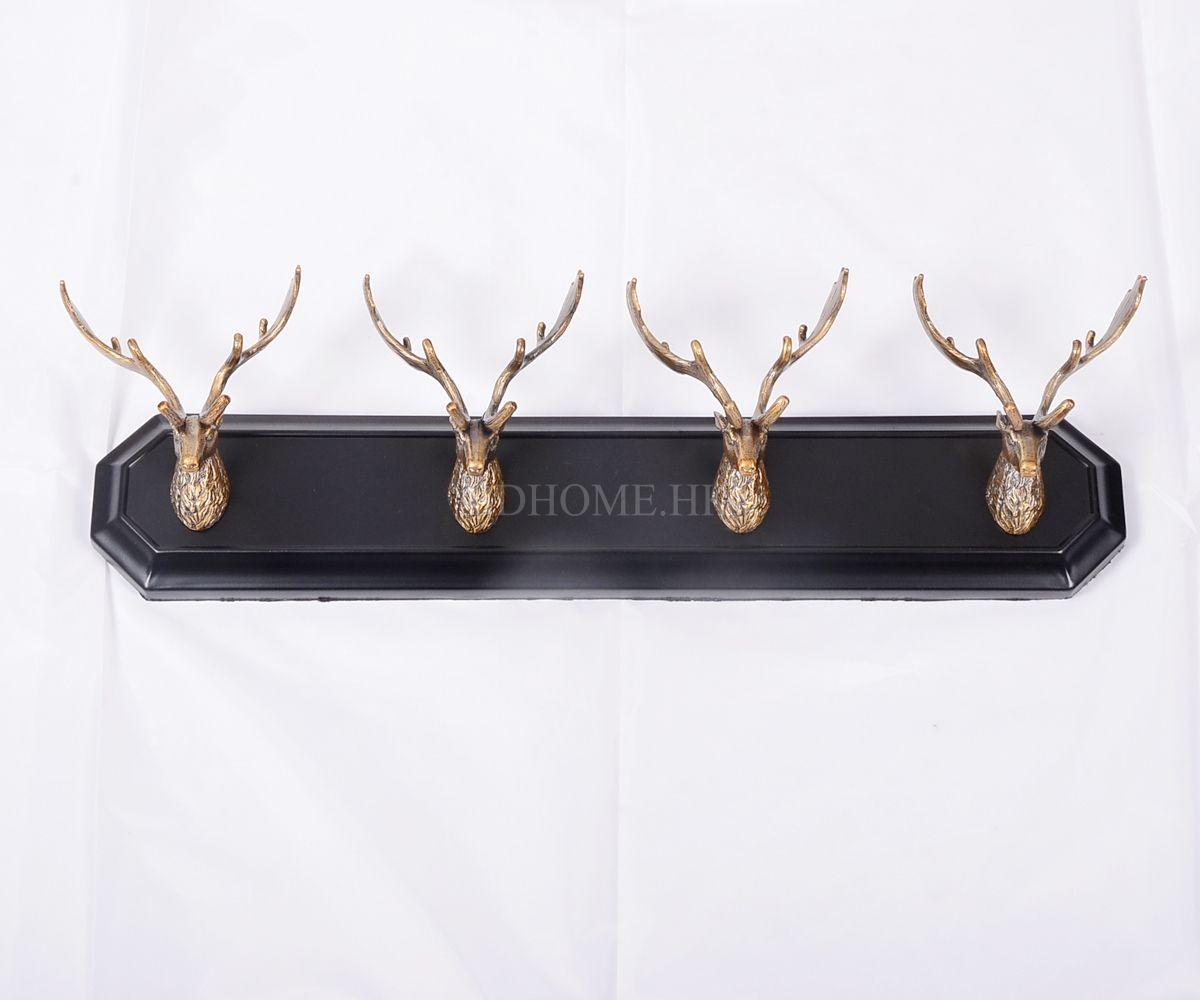金属摆件 鹿头衣挂 合金 W630*D150*H161mm