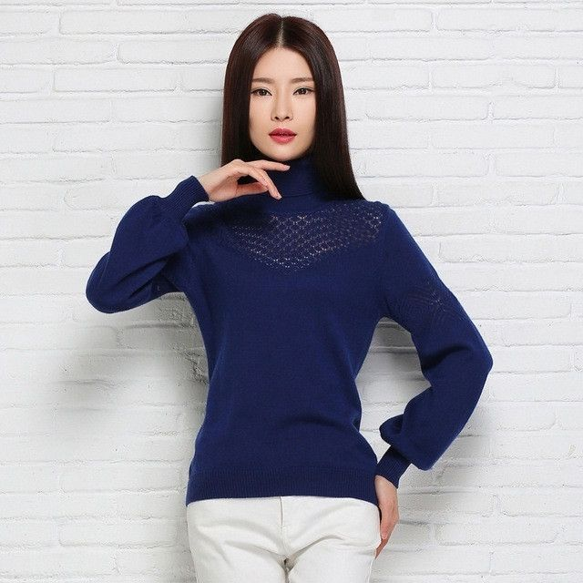 Women Sweater and pullover Turtleneck Knitwear Cashmere Sweater 2015 New Female Lantern Sleeve Knitted Jumper Pullover Brand