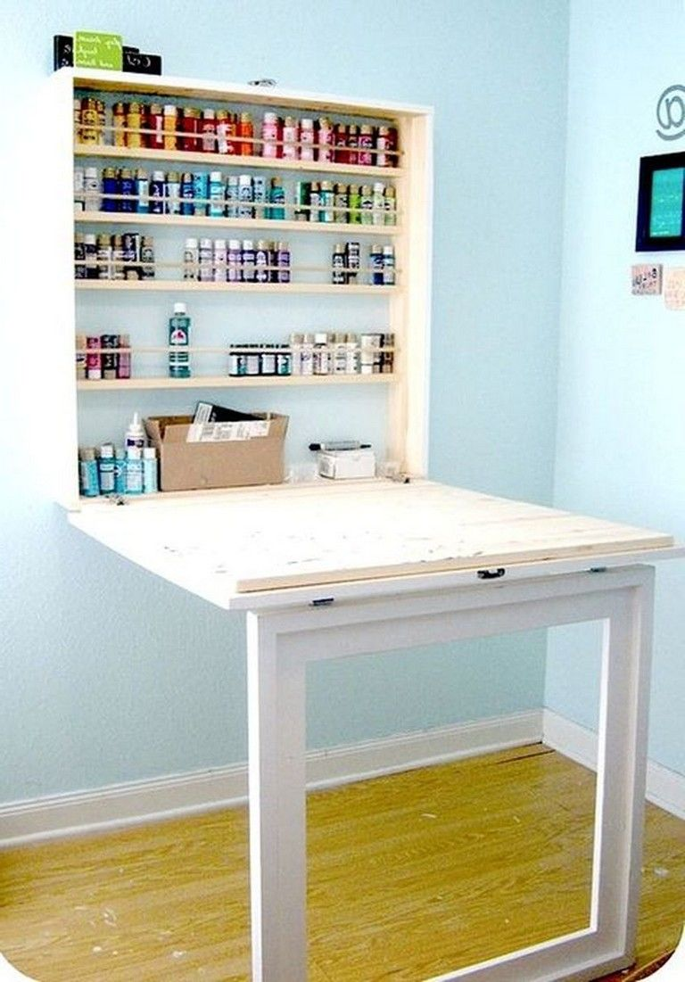 Space Saving Teens Bedroom Furniture: 45 Good Folding Wall Table Ideas For Space Saving