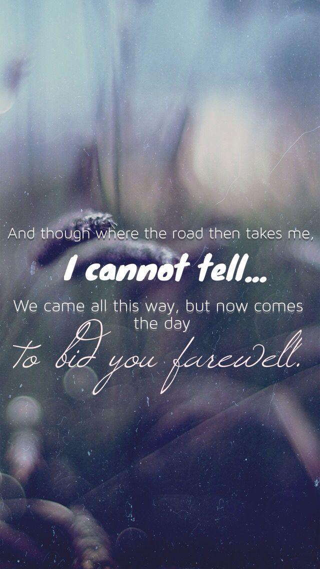 background billy boyd lyrics of the song the last goodbye