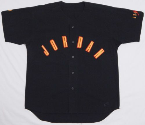 quality design 91439 970c4 Vtg-90s-Mens-Nike-MICHAEL-JORDAN-Baseball-Jersey-Shirt-LARGE ...