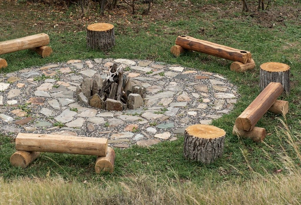 10 Awesome Tree Stump Fire Pit Seating Ideas Go Travels Plan Outdoor Fire Pit Seating Rustic Fire Pits Fire Pit Seating