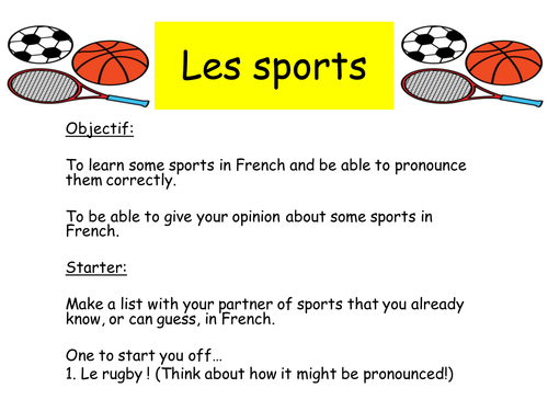 Le Sport Sports Teaching Resources Teaching