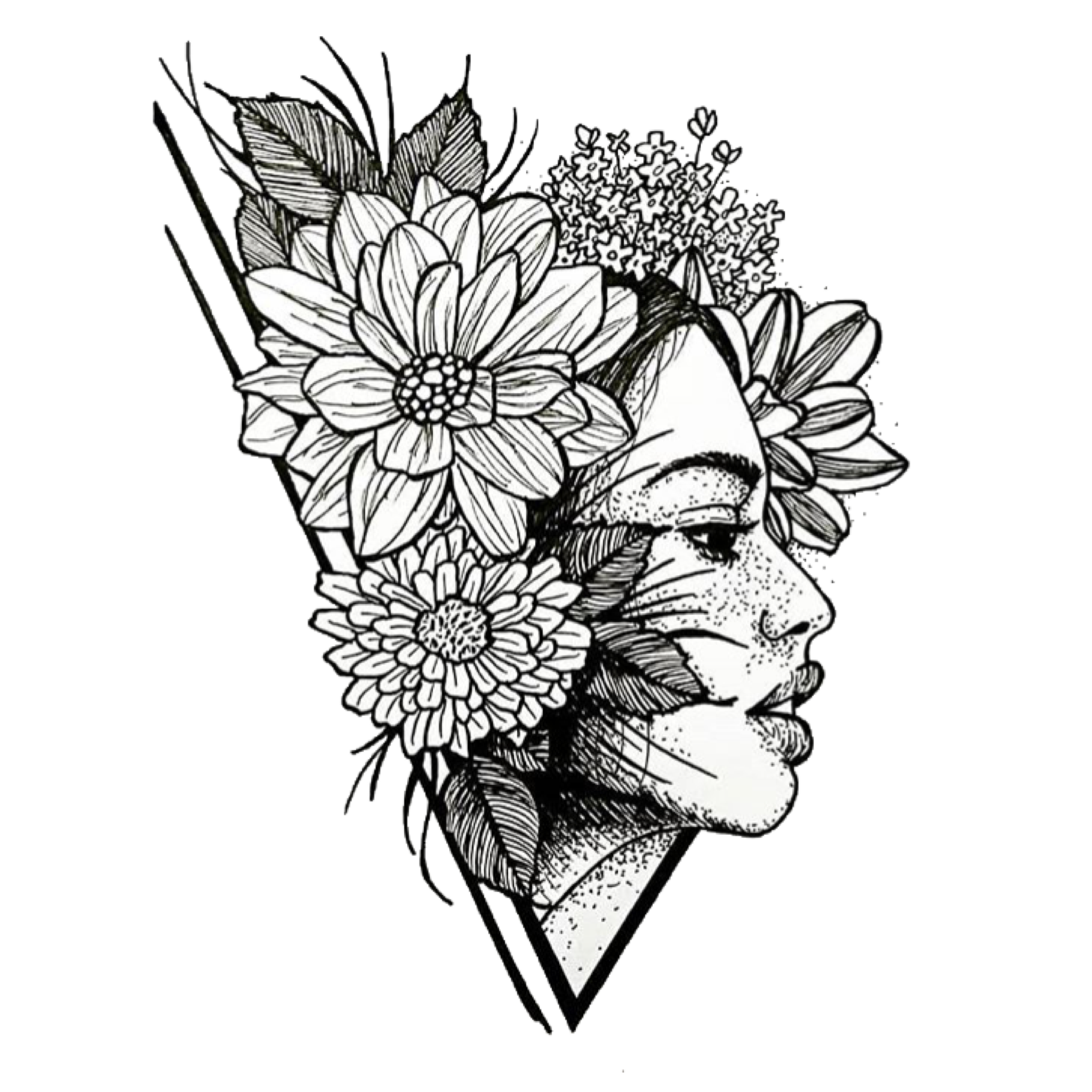 Floral coloring page adult coloring pages free coloring page