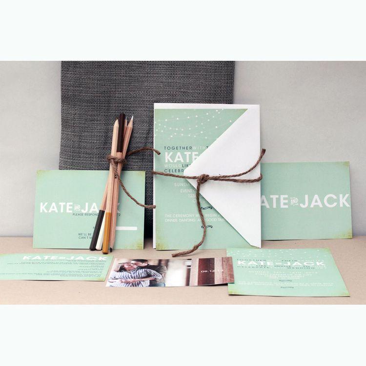 Kate+Jack || Mango Ink #wedding #invitations #mangoink