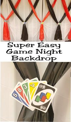 Photo of Super Easy Game Night Backdrop