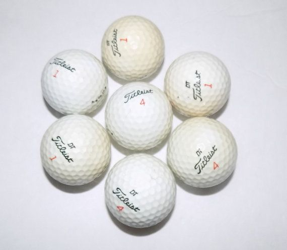 Vintage Titlelist Golf Ball Set of 8 White by TimeEnoughAtLast