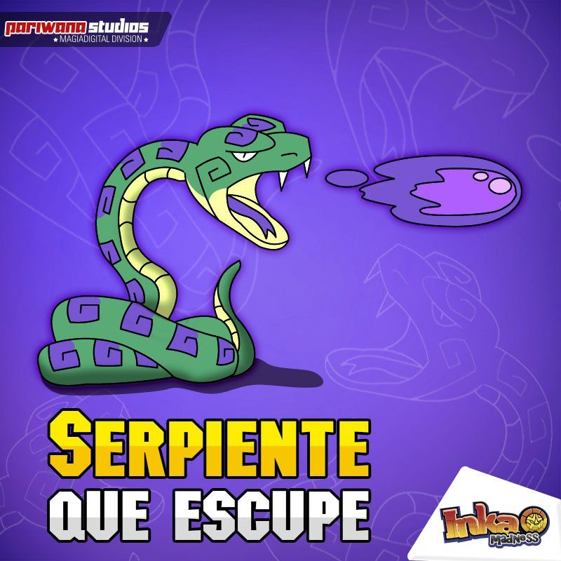 Spitter-snake / Serpiente que escupe. #snake #serpiente #inkamadness #games #ios #wp #ipad #iPhone #peru