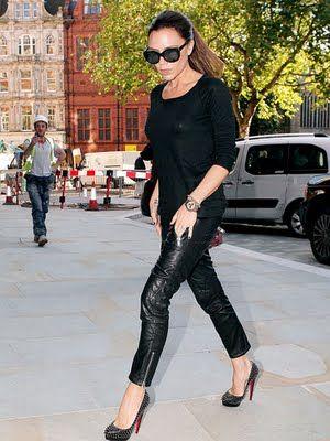 Victoria Beckham rocking studded Louboutins!