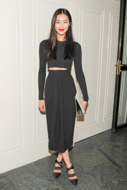 Liu Wen at the CFDA and Vogue Fashion Fund Americans in China cocktail party in Beijing.