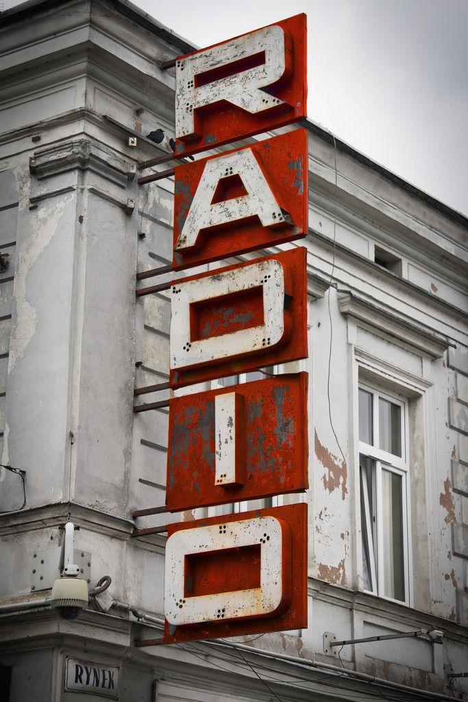 Nowy Sacz Radio Vintage Neon Signs Vintage Signs Street Signs