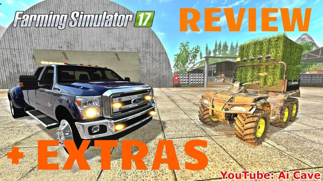 Farming simulator 17 mods review with extras quad polaris atv ford
