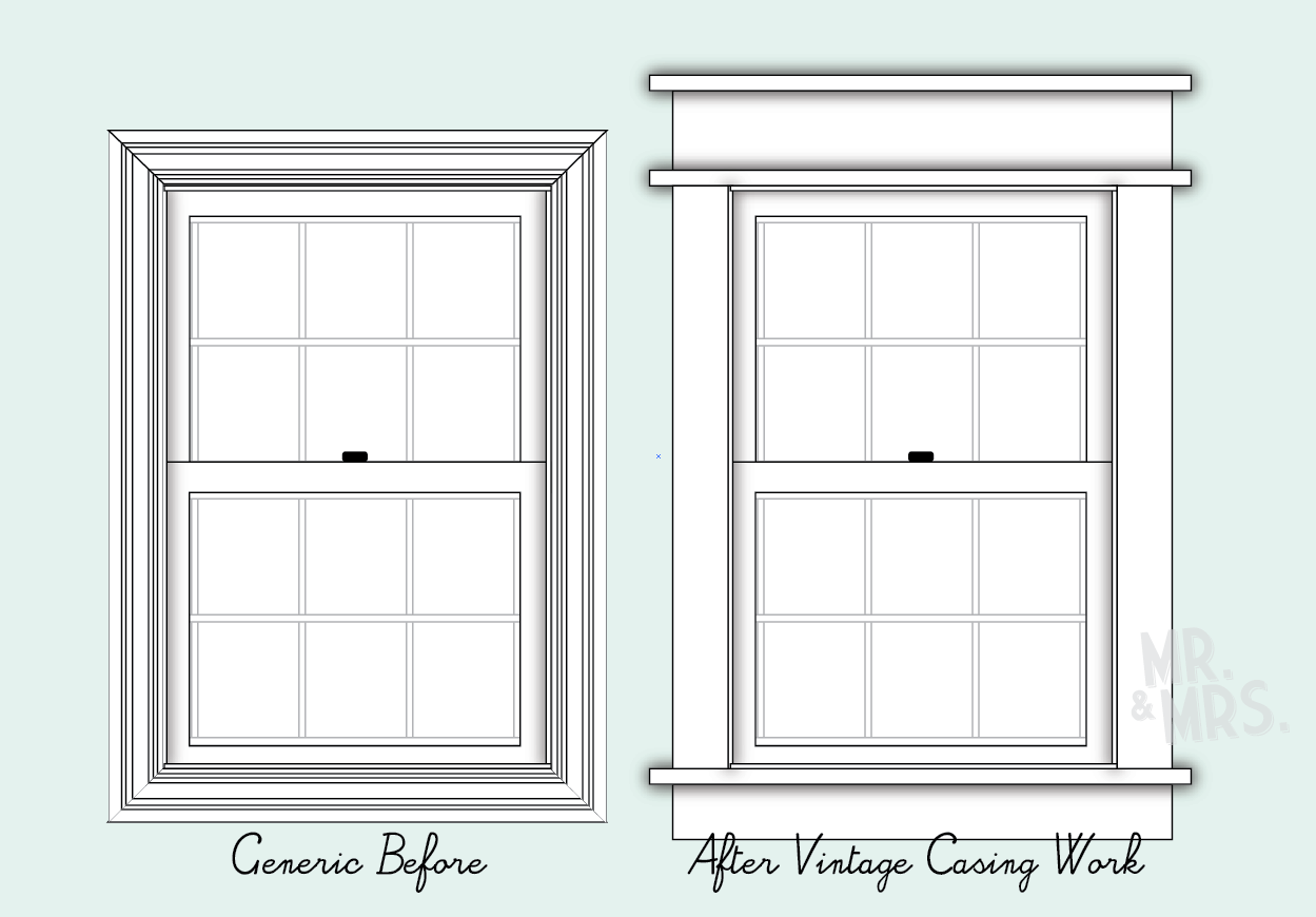 Vintage Craftsman Styled Window Trim Diy Tip From Mr And Mrs Craftsman Window Trim Interior Window Trim Window Trim Exterior